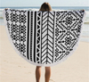 Hot promotion originality round beach towel with tassels
