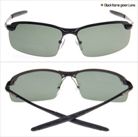 2015 Newest Men Polarized Fashion Sunglasses 3043 men Black frame green lens