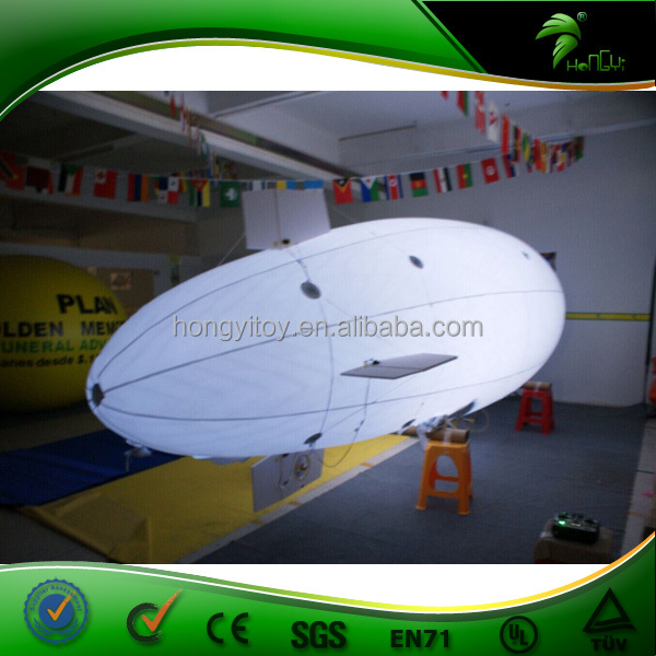 Outdoor Advertising Custom 6m Helium Balloons Inflatable RC Airship Blimps With Led Light