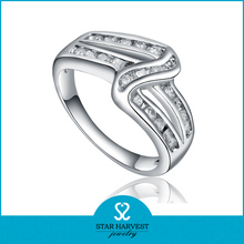 Promotion AAA Zircon Crystal Women Finger silver fashion ring