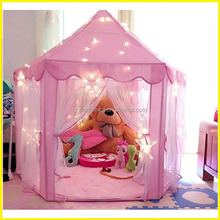 Indoor and Outdoor Use Children Playhouse Pink Princess Castle Kids Play Tent