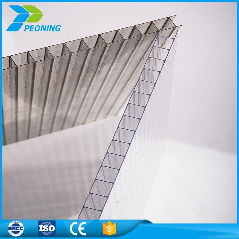Factory direct 10mm twin wall polycarbonate greenhouse roofing panels