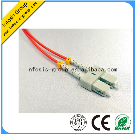 Good Performance Fiber Optical patch cords cabel jumpers with Connector SC/PC-SC/PC Duplex Multimode