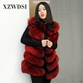 CX-G-B-04E Classical Pattern Bread Clothes Real Fox Fur Gilet Lady Fur Waistcoat