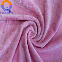 4MM pink100% Polyester Solid Color wholesale Super Soft velboa Fleece plush Fabric for Garment,Toys,Blanket,,Home Textile,Shoes