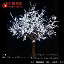 outdoor decoration high artificial natural trunk coating branch white light cherry blossom light christmas tree