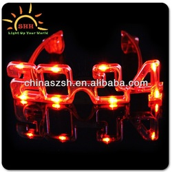 2014 Chinese New Year Products, LED Flashing Light Up Sunglasses for 2014 Wedding Gift