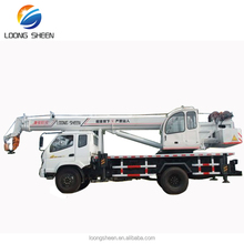 china top 10 crane manufacturers supply telescopic boom truck mounted crane LXQY-10