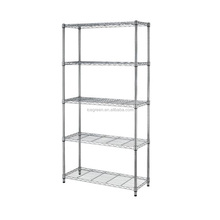 Chrome plated light duty wire shelving Adjustable steel organizer commercial wire shelving stainless steel wire rack