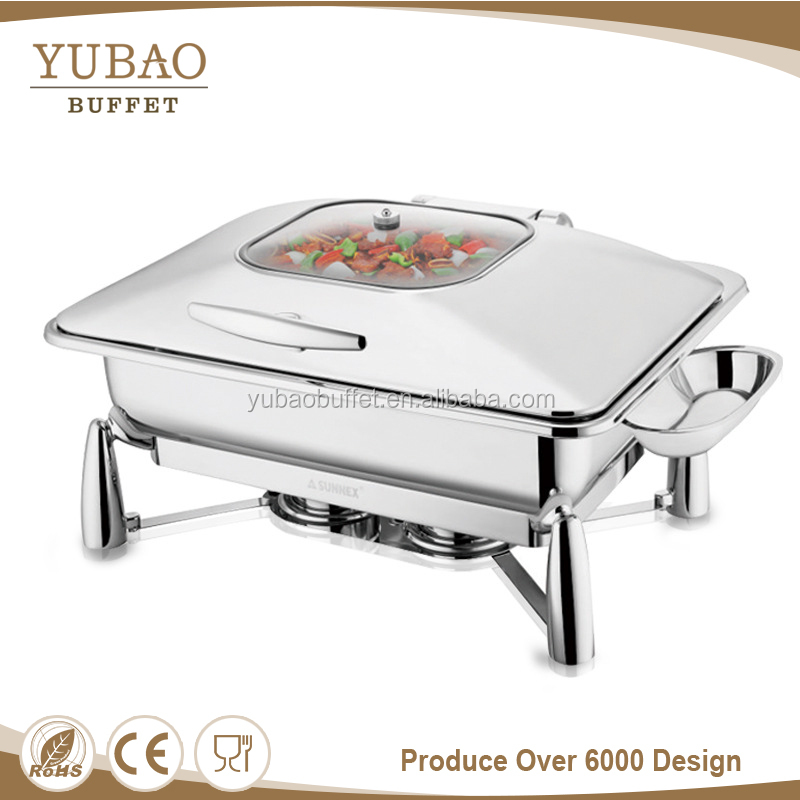 Roll Top Chafer Catering Equipment stainless steel big hydraulic food warmer chef in dish