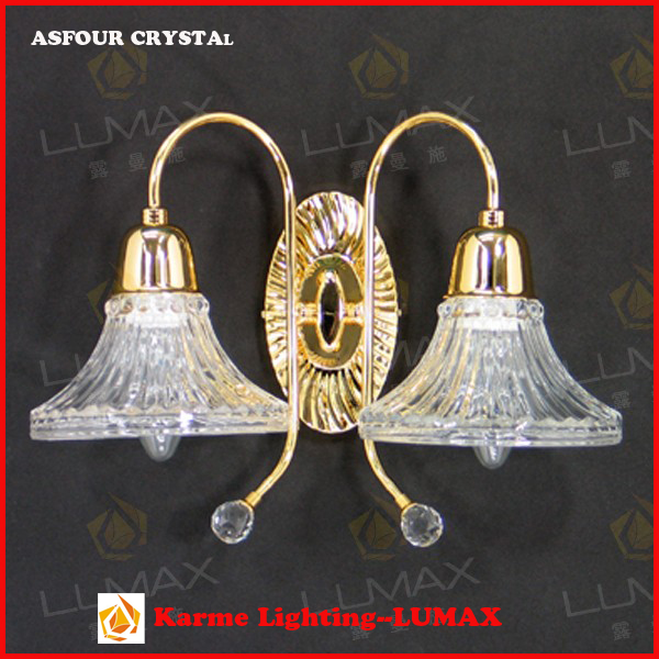 Compound wall lamp stainless steel with asfour crystal W-158-2L