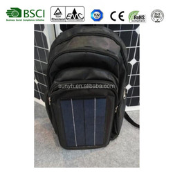 Solar panel bag, solar bag with poly solar panel, for hiking,camping,outdoor use