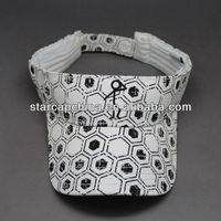 100%COTTON SUN VISOR WITH PRINTING PATTERN