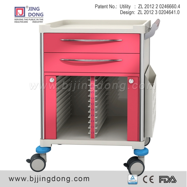 Hospital Medical Patient File Record Trolley /cart