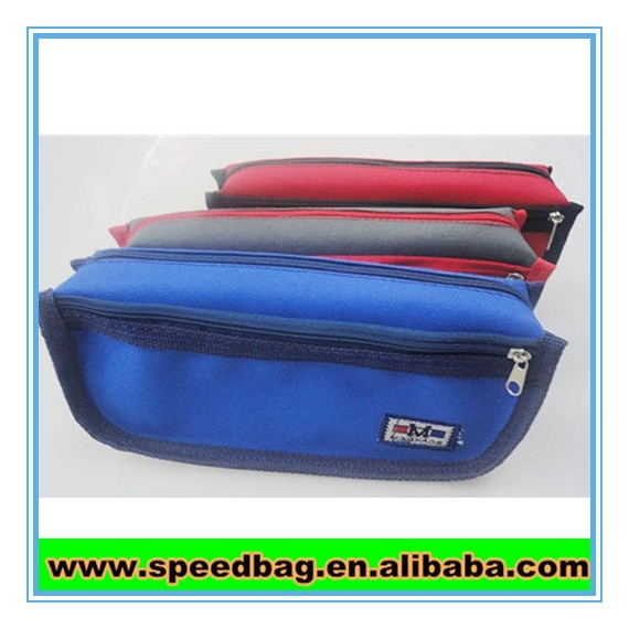 High school 3 zipper pencil case for men