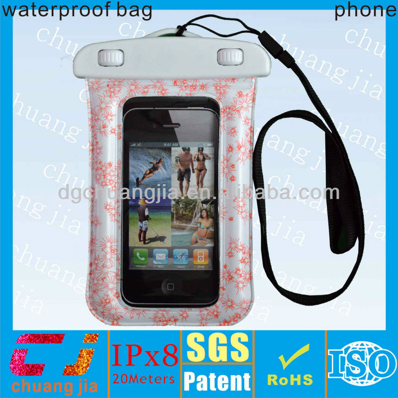2015 fashion waterproof smartphone pouch for iphone 5