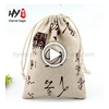 Good quality foldable cotton canvas drawstring bag