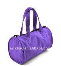 Promotional fashion round travel bag with handles & compartments