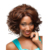Synthetic Wigs Short Black Wigs Rose Net Natural Straight Artificial Wigs Female