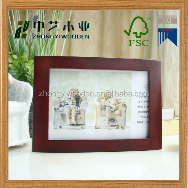 china factory FSC&SA8000&BSCI christmas crafts handmade wooden photo pictures gift frame for decorating
