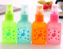 empty colorful 50ml PET boston plastic beauty make up cosmetics bottles travel set