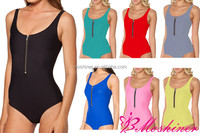 2015 One Pcs Swimsuit Solid Color Swimwear Factory Wholesale