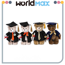 Top Selling Beautiful Bear With Doctorial Hat Soft Baby Girls Toys