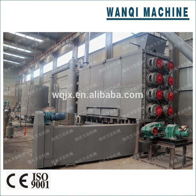 Wanqi THJ-II Continuous Palm Kernel Charcoal Carbonization Kiln Best Price Charcoal Making Machine