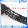 Round Natural Healthy Black Lava Rock Beads