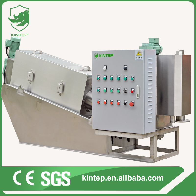 24 hours Automatic Screw Filter Press for Anaerobic Digested Sludge