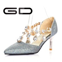 Hot new products fashion lady shoes 2015 high heel gladiator sandals made in china