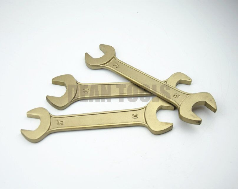 Dean Tools , Non Sparking Double Open End Wrench , Beryllium Bronze , Safety Hand Spanner .Customized