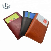Vegetable tanned leather credit card holder gifts case <strong>wallet</strong>