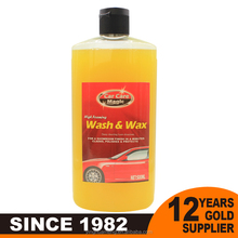 car care product foam car wash & wax for car cleaning shop