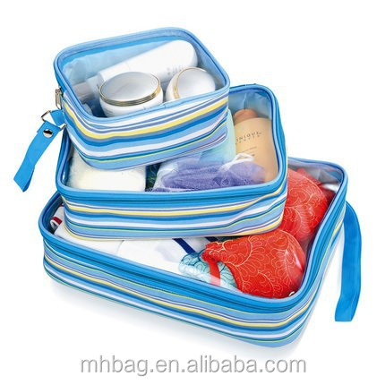 Clear-view Packing Cubes in Travel Bag,Cosmetic Bag