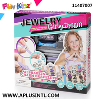 Kids Craft DIY Girly Dream Alphabets Charm Bracelets Kits