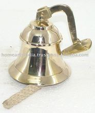 Brass Handle Bell with brass handle in Mirror polish also available in silver plating