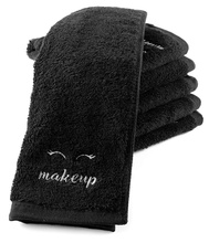 6Pcs Black Spa Towel, Facial Towel, Make-up Towel with Logo embroidery <strong>for</strong> <strong>sale</strong>