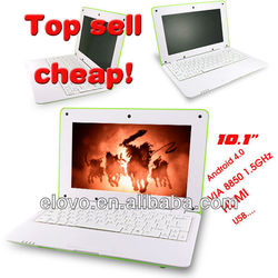 china low price 10 inch netbook android 4.1 WM8850 notebook computer laptop