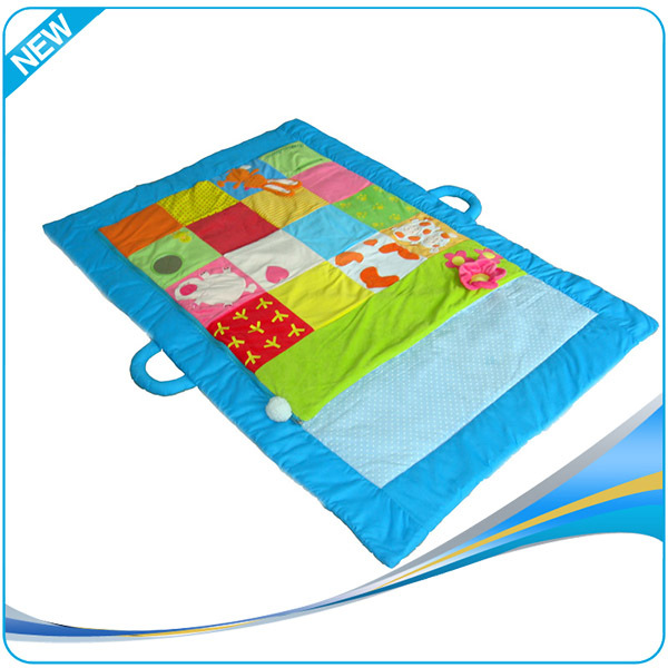 2017 high quality portable kids folding play mat baby crawl mat