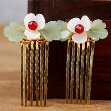 Costume headdress hairpin tassel antique comb hair band ancient classical hairpin step shake Hanfu COS jewelry