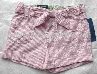 Sell Girls stripe woven shorts, adjustable waist,children wear,Apparel Stock,Kid wear,children apparel