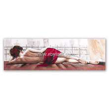 ROYIART Handpainted Modern Canvas Abstract Figure Oil Painting