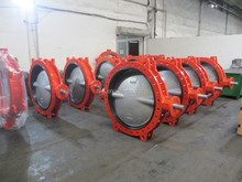 DN200 EPDM Lined Gear Operated Butterfly Valve