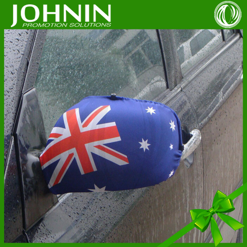 hot sale high quality fast produce decorate car australia car wing mirror flag cover