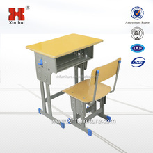 High quality adjustable height single steel primary children classroom desk and chair