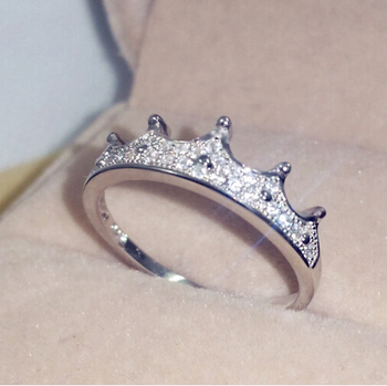 Fashion Zircon Crown-shaped New Design Wedding Ring Jewelry
