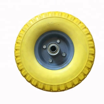 10 Inch PU Foam Yellow Wheels Beach Cart Used Tyre