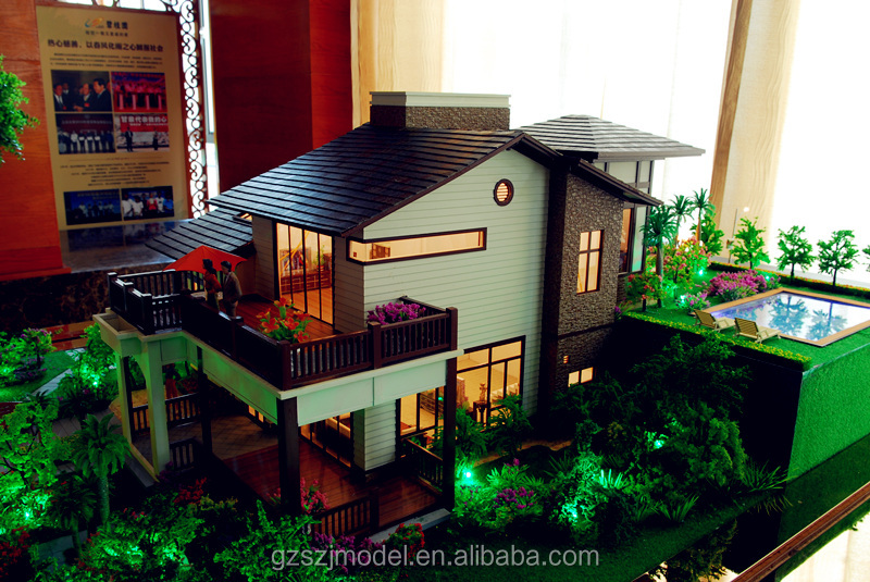 ho scale architectural model/modern house plan/ business for sale