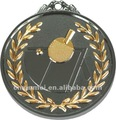 Sports medallion for table tennis--two-tone colors
